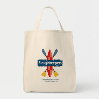 Sloughkeepers Grocery Tote--semi-conical botom Tote Bag