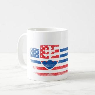 Slovak American Flag   Slovakia and USA Design Coffee Mug