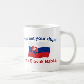 Slovak Babka-Bet Your Dupa Classic White Coffee Mug