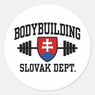 Slovak Bodybuilder Classic Round Sticker