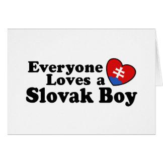 Slovak Boy Card