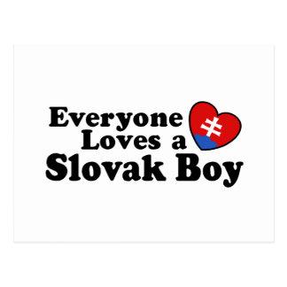 Slovak Boy Postcard