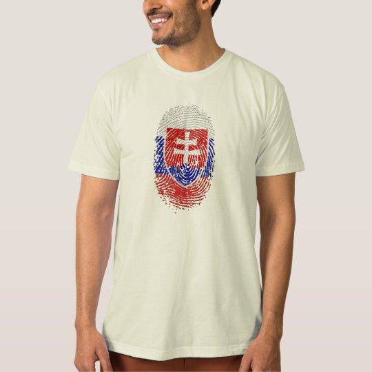 Slovak by DNA - Slovakia flag fingerprint gifts T-Shirt