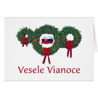 Slovak Christmas 2 Greeting Card