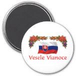 Slovak Christmas Fridge Magnet