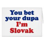 Slovak Dupa 1 Greeting Cards