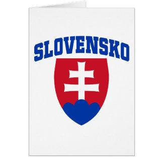 Slovak Emblem Greeting Cards
