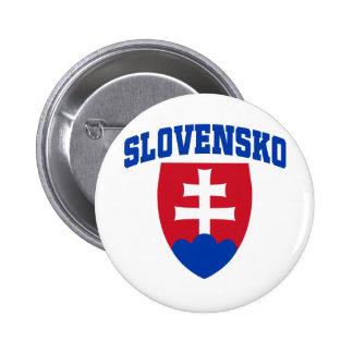 Slovak Emblem Pinback Button