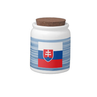 Slovak Flag Floating on water Candy Dishes