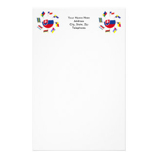 Slovak Flags Pinwheel Stationery