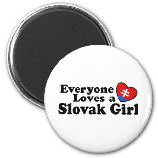 Slovak Girl 2 Inch Round Magnet
