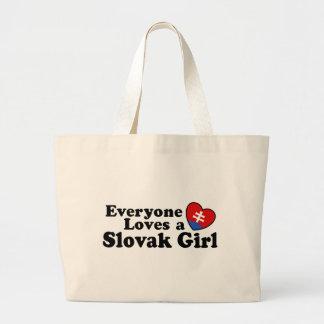Slovak Girl Canvas Bags