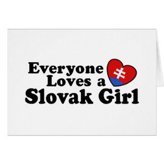 Slovak Girl Card