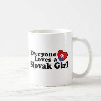 Slovak Girl Classic White Coffee Mug