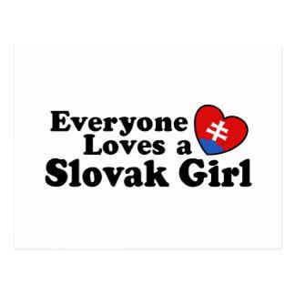 Slovak Girl Postcard