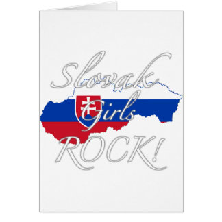 Slovak Girls Rock! Greeting Card