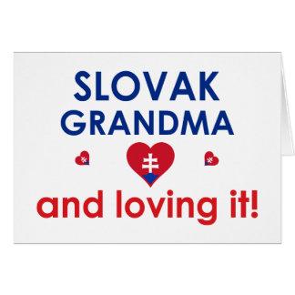 Slovak Grandma & Loving It Greeting Cards