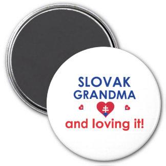 Slovak Grandma & Loving It Magnets