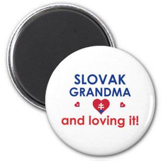 Slovak Grandma & Loving It Refrigerator Magnet
