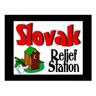 Slovak Relief Station Post Card