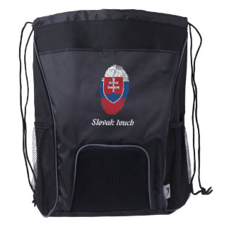 Slovak touch fingerprint flag drawstring backpack