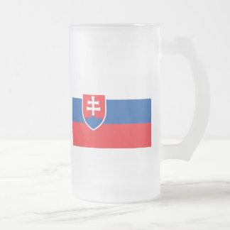 slovakia 16 oz frosted glass beer mug