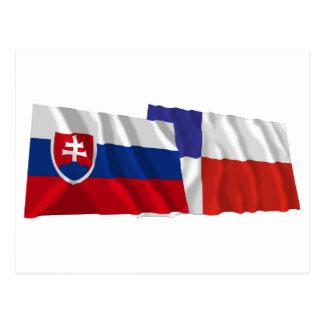 Slovakia and Banska Bystrica Waving Flags Postcard