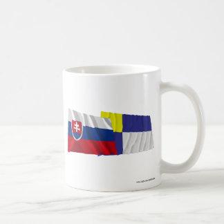 Slovakia and Bratislava Waving Flags Classic White Coffee Mug