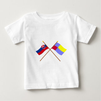 Slovakia and Nitra Crossed Flags Baby T-Shirt