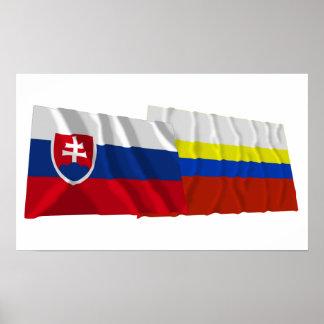 Slovakia and Presov Waving Flags Poster