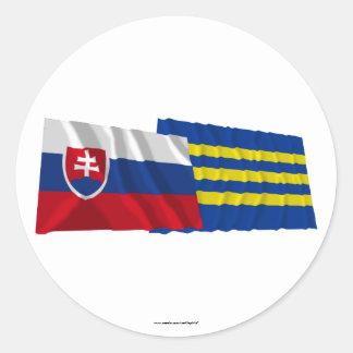 Slovakia and Trnava Waving Flags Classic Round Sticker