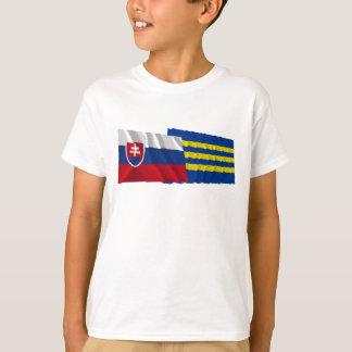 Slovakia and Trnava Waving Flags T-Shirt