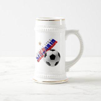 Slovakia ball star Slovakian flag gifts for Slavs Beer Stein