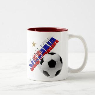 Slovakia ball star Slovakian flag gifts for Slavs Two-Tone Coffee Mug