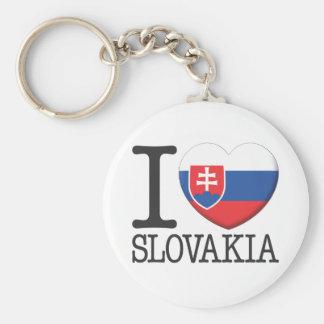 Slovakia Basic Round Button Keychain