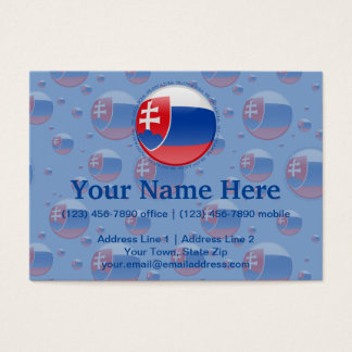 Slovakia Bubble Flag Business Card