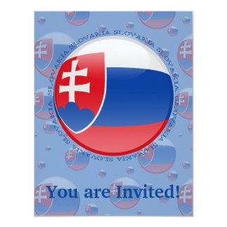 Slovakia Bubble Flag Card
