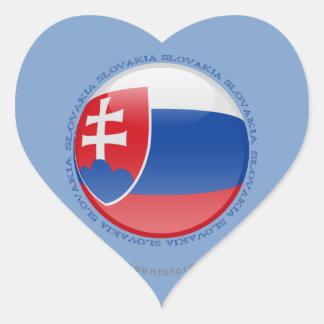 Slovakia Bubble Flag Heart Sticker