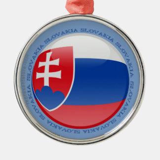 Slovakia Bubble Flag Metal Ornament