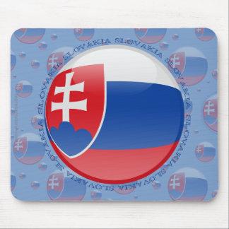 Slovakia Bubble Flag Mouse Pad