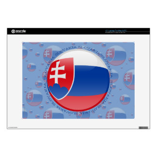 Slovakia Bubble Flag Laptop Decals