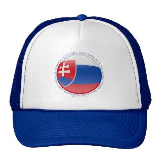 Slovakia Bubble Flag Trucker Hat
