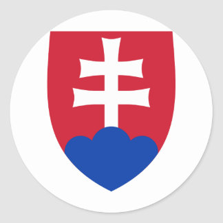 Slovakia coat of arms classic round sticker