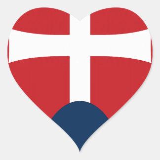 Slovakia Coat of Arms Heart Sticker