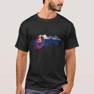 Slovakia Distressed Flag T-Shirt