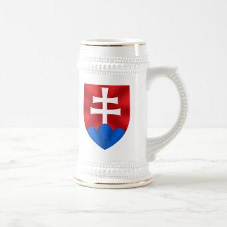 Slovakia emblem for Slovaks 18 Oz Beer Stein