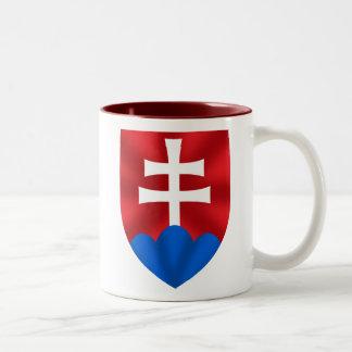 Slovakia emblem for Slovaks Two-Tone Coffee Mug