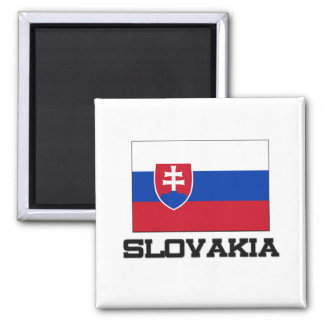 Slovakia Flag 2 Inch Square Magnet
