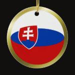 Slovakia Fisheye Flag Ornament
