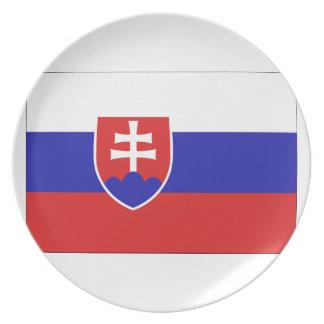 Slovakia Flag Party Plate